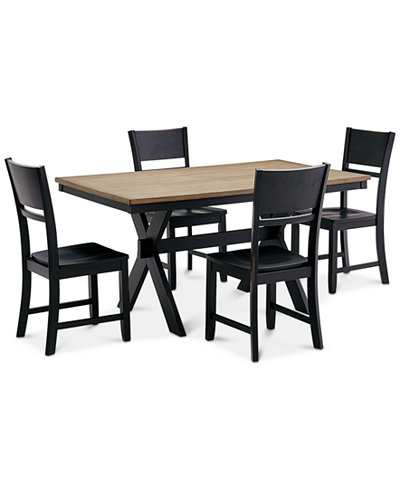 CLOSEOUT Archer Dining Furniture 5 Pc Set Table 4