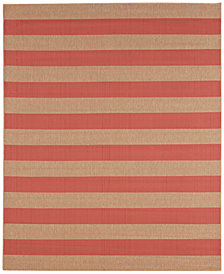Karastan Portico Riviera Stripe  8' x 10' Indoor/Outdoor Area Rug