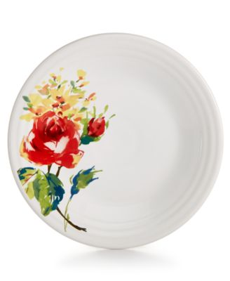 "Ceramic Floral Bouquet 9"" Luncheon Plate"