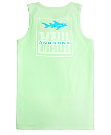 Maui and Sons Men's Fish Out of Water Graphic-Print Logo Tank