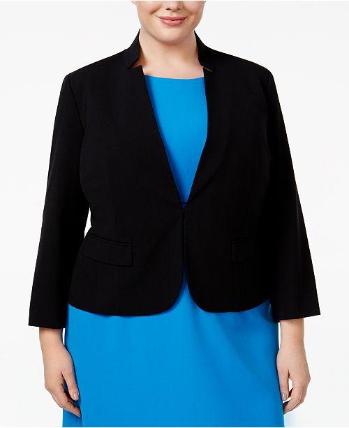 Nine West Plus Size Stand-Collar Blazer