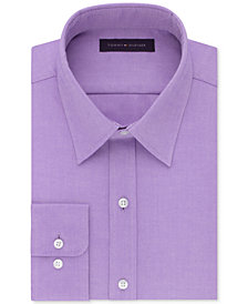 Tommy Hilfiger Men's Athletic Fit Performance Stretch TH Flex Collar Dress Shirt, Created for Macy's