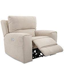 CLOSEOUT! Genella Power Recliner with Power Headrest and USB Power Outlet