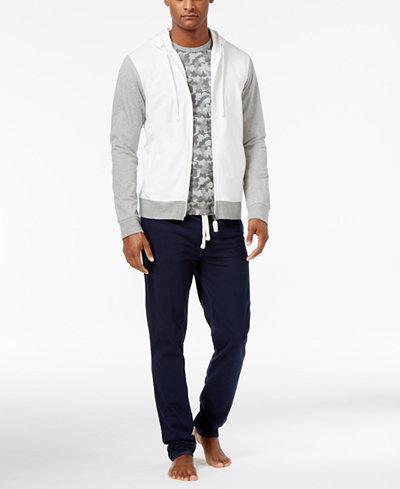 Bar III Men's Cotton Pajama Hoodie, Camo-Print T-Shirt & Pants