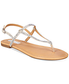 I.N.C. Women's Macawi Embellished Flat Sandals, Created for Macy's