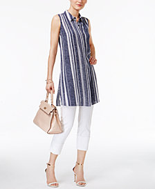 Alfani High-Low Tunic & Capri Pants, Created for Macy's