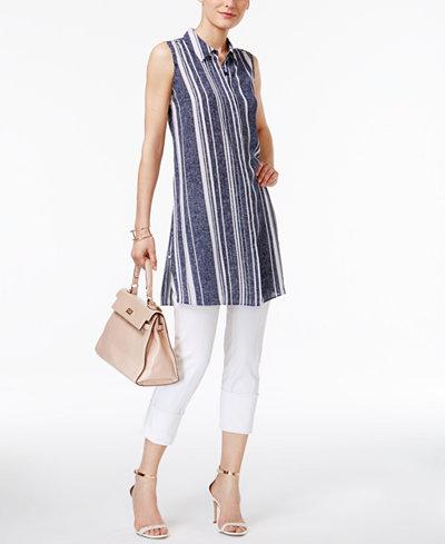 Alfani High-Low Tunic & Capri Pants, Created for Macy's