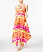 INC International Concepts Popsicle® Handkerchief-Hem Maxi Dress, Only at Macy's