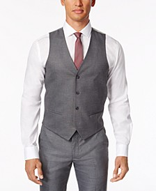 CLOSEOUT! Men's Stretch Performance Solid Slim-Fit Vest, Created for Macy's