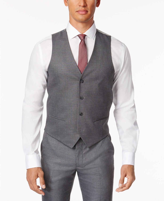 Alfani Men's Stretch Performance Solid Slim-Fit Vest