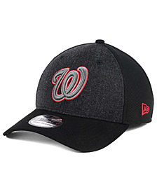 New Era Washington Nationals Black Heathered 39THIRTY Cap