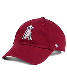 '47 Brand Los Angeles Angels of Anaheim Cardinal and White Clean Up Cap