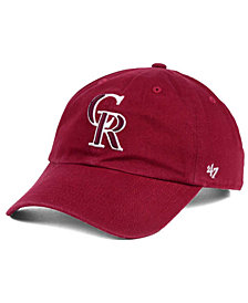 '47 Brand Colorado Rockies Cardinal and White Clean Up Cap