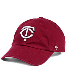 '47 Brand Minnesota Twins Cardinal and White Clean Up Cap