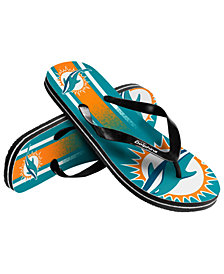 Forever Collectibles Miami Dolphins Gradient Big Logo Flip Flops
