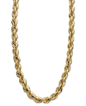 "30"" Rope Chain Necklace in 14k Gold"