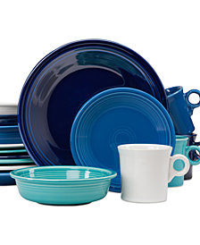 Fiesta Blues 16-Piece Dinnerware Set, Created for Macy's