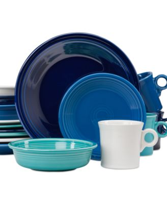 main image; main image ...  sc 1 st  Macy\u0027s & Fiesta Blues 16-Piece Dinnerware Set Created for Macy\u0027s ...