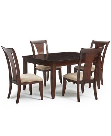 Metropolitan Contemporary 5 Piece Dining Room Furniture Set Furniture Ma