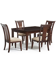 CLOSEOUT! Metropolitan Contemporary 5-Piece (Dining Table and 4 Side Chairs) Dining Room Furniture Set, Created for Macy's,