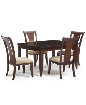 Metropolitan Contemporary 5-Piece (Dining Table and 4 Side Chairs) Dining Room Furniture  sc 1 st  Macy\u0027s & 5 Piece Size: 5 Piece - Macy\u0027s