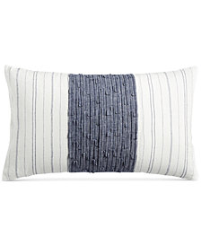 "CLOSEOUT! Hotel Collection  Ticking Stripe 14"" x 24"" Decorative Pillow, Created for Macy's"