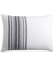 CLOSEOUT! Hotel Collection  Linen Plaid Standard Sham, Created for Macy's