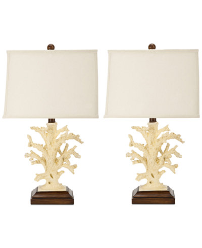 Safavieh set of 2 key west coral table lamps lighting lamps safavieh set of 2 key west coral table lamps mozeypictures Images