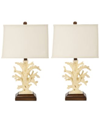 Safavieh Set Of 2 Key West Coral Table Lamps