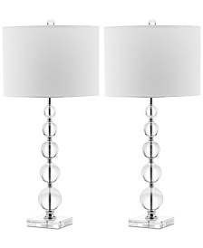 Safavieh Set of 2 Liam Crystal Ball Table Lamps