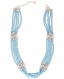 Apatite Beaded Choker Necklace (120-1/2 ct. t.w.) in Sterling Silver