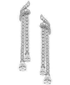 Arabella Swarovski Zirconia Drop Earrings in Sterling Silver