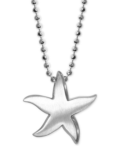 Alex Woo Starfish Pendant Necklace In Sterling Silver