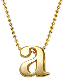 Alex Woo Initial Pendant Necklace in 14k Gold