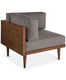 Stanton Square Corner Chair, Quick Ship