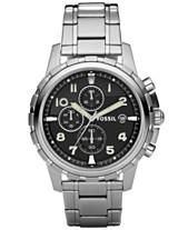 4f586b5f39b0 Fossil Men s Chronograph Dean Stainless Steel Bracelet Watch 45mm