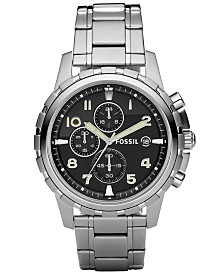 Fossil Men's Chronograph Dean Stainless Steel Bracelet Watch 45mm