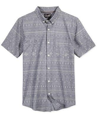Retrofit Men's Fair Isle Shirt - Casual Button-Down Shirts - Men ...