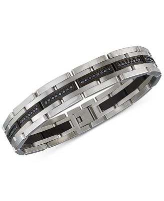 Esquire Men s Jewelry Diamond Bracelet 1 ct t w in Stainless