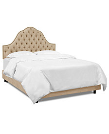 Jacqueline California King Nail Button Tufted Arch Bed, Quick Ship