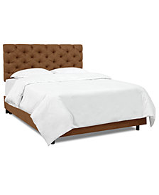 Hyde Park Full Horizontal Tufted Bed, Quick Ship
