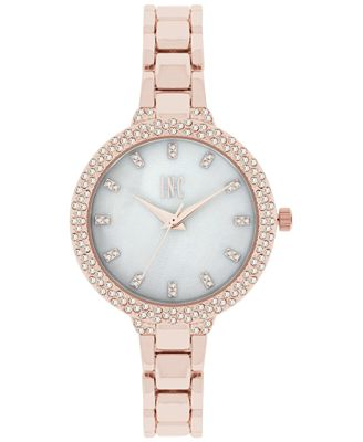 INC International Concepts Women's May Rose Gold-Tone Bracelet Watch 34mm, Only at Macy's