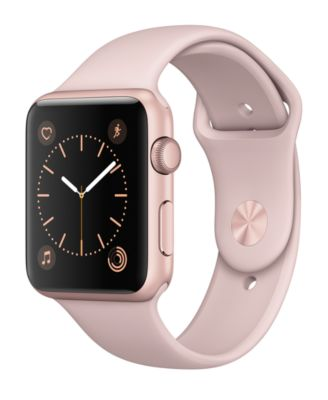 Image of Apple Watch Series 1 42mm Rose Gold Aluminum Case with Pink Sand Sport Band