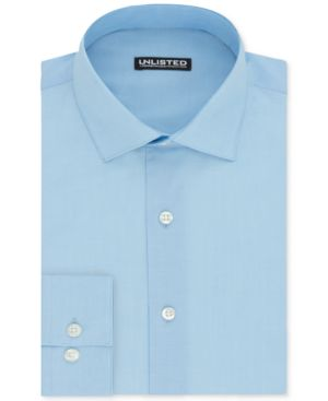 Unlisted By Kenneth Cole Men'S Slim-Fit Dress Shirt in Light Blue