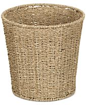 Household Essentials Seagrass Wicker Waste Basket