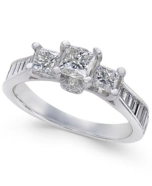 Diamond Princess Three-Stone Engagement Ring (1-1/2 ct.