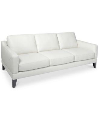 "CLOSEOUT! Emilda 82"" Leather Sofa, Created for Macy's"