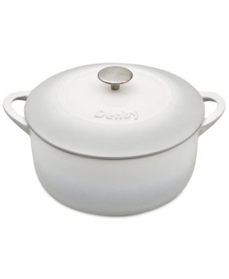 Natural Canvas Cast Iron 4.25 Qt. Round Covered Casserole