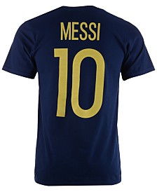 adidas Men's Lionel Messi Argentina National Team Jersey Hook Player T-Shirt