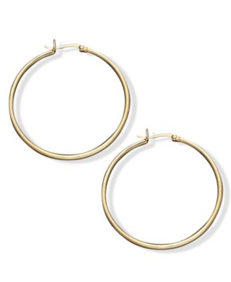Large Hoop Earrings in 18k Gold Over Sterling Silver, 1-1/2""